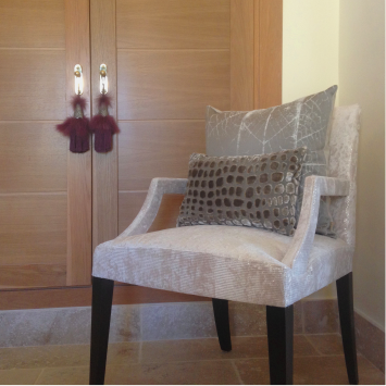 customized armchair upholstering